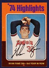 1975 Topps #5 Nolan Ryan HL/Fans 300 for/3rd Year in a Row EXMT to NM OC