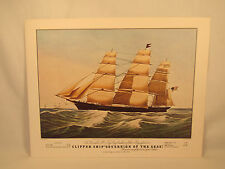 """Vintage CLIPPER SHIP SOVEREIGN OF THE SEAS Lithograph E. Brown N. Currier 16""""x12"""