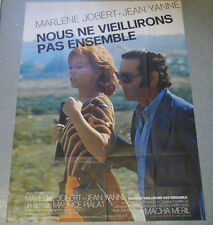 Affiche de cinéma : NOUS NE VIEILLERONS PAS ENSEMBLE de Maurice PIALAT