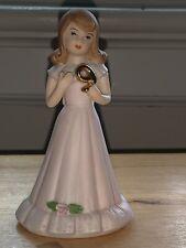 Vtg Growing Up Birthday Girls Age #9 Birthday Age Nine By Enesco 1982 Figurine