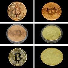 1Pcs Hot Bitcoin Collectible Golden Iron In Stock Commemorative Coin Gift Rare
