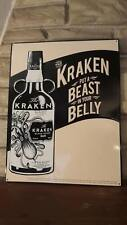 "Release The Kraken Black Spiced Rum Metal Sign  14"" x 18"""