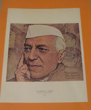 Norman Rockwell GAMAL JAWAHARLAL NEHRU LUNCH BREAK Original Book Pressing Print