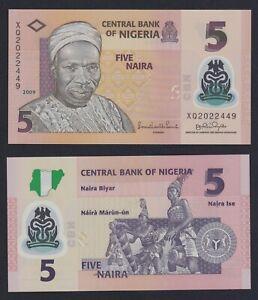 Nigeria 5 naira 2009 (Polymer) FDS/UNC  C-05