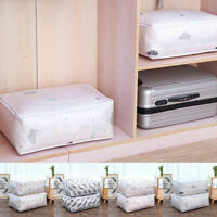 2PCS FOLDABLE STORAGE BAG CLOTHES BLANKET QUILT ORGANIZER POUCH BOX SPECIAL
