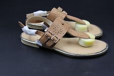 VERY VOLATILE Marisol Women's Tan Leather Studded Thong Sandals - Size 7 - NEW