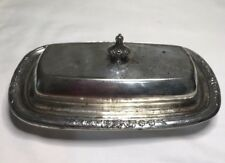 Rare! Antique Citadel Silverplate covered Butter Dish