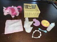 Vintage 1986 G1 My Little Pony Baby Heart Throb, Beddy Bye Set By Hasbro