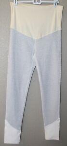 Women's NWT Maternity PinkBlush Active White & Black Striped Leggings Size M