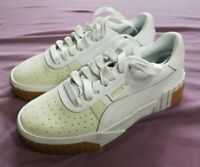 PUMA Women's White Cali Exotic Trainers Shoes Size UK 4.5 EUR 37.5 US 7 - New