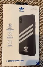 New Adidas Originals 3-Stripes Snap Case for iPhone XS MAX - Black