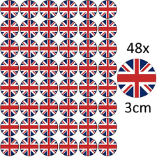 *48 x UNION JACK OLYMPICS EDIBLE RICE FAIRY CUP CAKE TOPPERS UK GREAT BRITAIN
