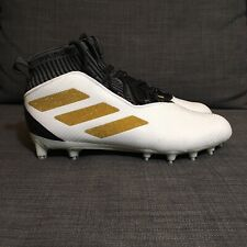 New Adidas Freak Ultra Elite Mid Football Cleats White Black Gold F97378 Size 11