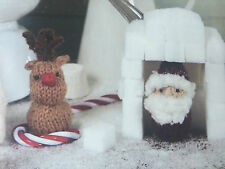 KNITTING PATTERN Christmas Santa & Rudolph Toy Festive Decoration Anchor PATTERN