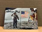 DOLORES BLACK Authentic Hand Signed Autograph 4x6 Photo APOLLO MISSION US FLAG