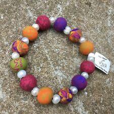 VIVA ORIGINAL INDIAN SUMMER Clay Beaded Bracelet Hippy Boho Gift Hand Made J619