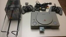 WORKING PLAYSTATION ONE (PS1) INCLUDES 14 GAMES/MEMORY CARD/2 CONTROLLERS/CORDS