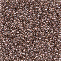 Toho Size 11/0 Seed Beads Inside Colour Crystal/Antique Plum Lined 8.2g (L25/1)