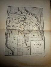 22 - CARTE MAP PLANS Campagne ITALIE 1745 & 1746 Camp ACQUI CAPUCINS 1775