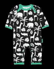 Toby Tiger Black And White Jungle Sleepsuit