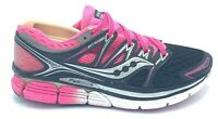 Saucony Triumph ISO Womens Size 7 Running Shoes Pink Black PWRGRID+ S10262 EUC