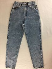 "Vintage Lee Acid Wash Jeans High Rise Tapered Leg Women 26""x29"" Tag Size 8 Med"