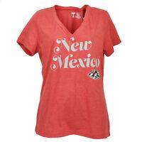 NCAA New Mexico Lobos V Neck Red Short Sleeve Tshirt Tee Womens Ladies Sports