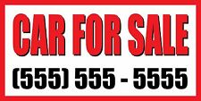 3'x6' CAR FOR SALE CUSTOM NUMBER Sign Vinyl Banner used truck automobile