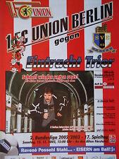 Programm 2002/03 Union Berlin - Eintracht Trier