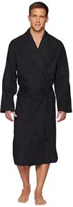 POLO RALPH LAUREN Black White Check Cotton Bath Robe Mens S/M Lightweight NWT