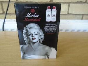 MARILYN BOMBSHELL Shower Gel and Shampoo Gift Set, NEW