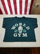 Vintage World Gym double sided short sleeve half top muscle shirt  pumping iron