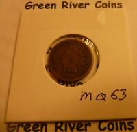 1863  CN   Indian Head Penny Cent  Coin  #MQ63 nice coin