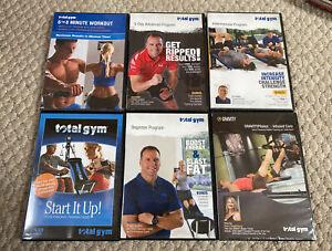 Total Gym 6 Dvd Set Beginner / 5 Min Workout / 6-8 Min Workout / Pilates