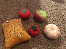 Vintage Sewing Tomato Pin Cushions Lot