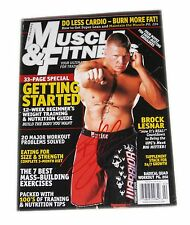WWE MUSCLE AND FITNESS BROCK LESNAR SIGNED MAGAZINE FEB 2008 WITH COA