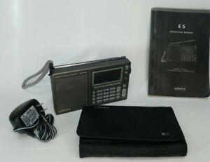 Eton E5 AM/FM Shortwave Radio w/ Manual, Case & AC Adapter