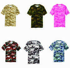Camoflauge t shirt 100% cotton pc54c brand new 6 colors Free Shipping