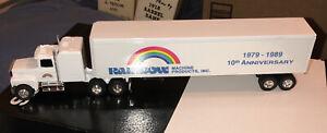 Ertl Semi Truck Rainbow Machine Products Inc 10th Anniversary Double Sided Ads