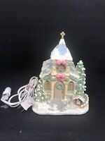 Precious Moments Hawthorne Village HOLY NIGHT CHAPEL Good Condition Lights Up