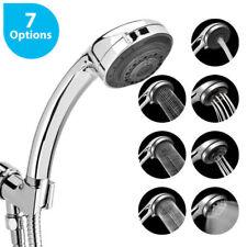 7 Sprays Modern Chrome Shower Base Head Hand Held High-Pressure Bathroom Set