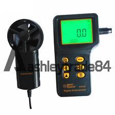 Smart Sensor AR836+ Air Flow Wind Speed Anemometer+Temperature Tester NEW