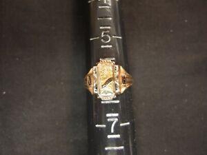 Ladies Size 6 Balfour 10kt Gold 1959 McCook, NE High School Class Ring--4.6 G