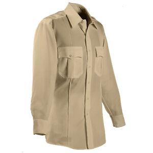 Men's ~ELBECO Classic TexTrop Long Sleeve Brown Shirt~ Size 18.5 x 32 -Brand NEW