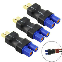 3pcs EC3 Female to Male T-Plug Adapter Connectors No Wire For RC LiPo Battery US