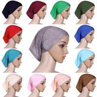 Women's Hijab Under Scarf Tube Bonnet Cap Bone Islamic Head Cover Hair Wrap Loss