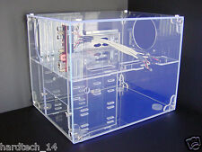 Sunbeam UFO UV-BLUE Transparent Clear Acrylic ATX Cube Computer Case Cabinet