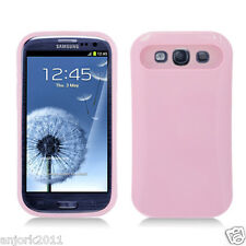 Samsung Galaxy S3 i9300 Hybrid Hard Case Skin Pastel Cover Light Pink