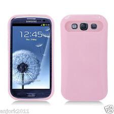 Samsung Galaxy S3 i9300 Hybrid Hard Case Skin Pastel Cover Light Pink