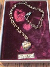 VINTAGE Ornate Etched Heart Locket Pendant Necklace 1/20 12k GF on Sterling
